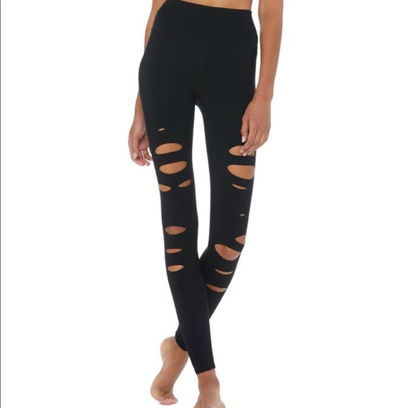 Alo- High waisted Ripped Warrior
